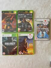 Xbox 360 Games Bundle Call Of Duty Black Ops Halo 2 Crackdown Halo 3 x 5 games