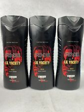 Axe X LIL Yachty Gold Body Wash Limited Edition For Men . 16 US FL OZ. Lot Of 3