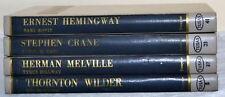 Four Literary Criticism Books Ernest Hemingway Stephen Crane Herman Melville
