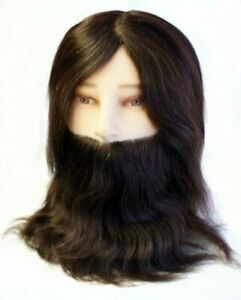 Hair Tools Men's Training Head With Beard