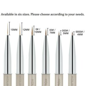 1pcs Kolinsky Acrylic Nail Art Liner Striping Brush Fine Line Detail Painting