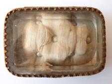 Petite boite à bijoux 19e siècle verre biseauté métal doré
