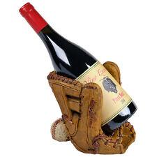 Wine Bottle Holder: Unique Decorative Baseball Glove Design for Tabletop Display
