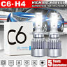 2X 300W H4 LED Headlight CSP Chip Bulb Kit Canbus Error Free 60000LM White 6000K