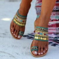 Women Boho Artisanal Sandals Flip-Flops Handmade Greek Style Beach Sandals