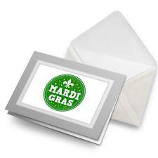 Greetings Card (Grey) - Mardi Gras Carnival  #5538