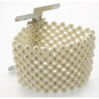 Ivory Pearl Corsage Bracelet 4cm with Metal Clip