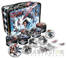 2016 CAPTAIN AMERICA CIVIL WAR - SILVER 6-COIN SET - LUNCHBOX CASE WITH EXTRAS
