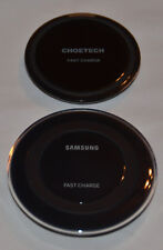 Nice, Gently Used SAMSUNG & CHOETECH Fast Wireless Charger (2x) Phone Pad LOT