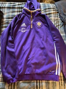 orlando city sc soccer travel training hoodie medium adidas MLS Soccer