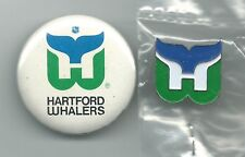 NHL Hartford Whalers 1 Logo Pin 1 Button Lot 1990's OOP Hockey
