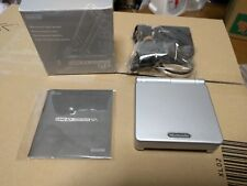 Gameboy Advance SP Silver Console GBA System Japan *COMPLETE - SCREEN MINT*