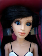 "Hasbro LORIFINA 20"" Articulated Fashion Doll Pale Skin Tone Raven Wig Blue Eyes"