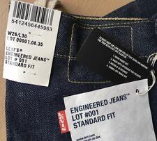 Stunning BNWT Unisex Levi's Engineered Raw Denim Jeans. 26W x 30L.