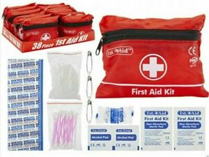 This 38 Piece First Aid Kit comes packaged in a small compact travel pouch,