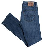 LEVIS 527 Mens Slim Bootcut Mid Blue Denim Jeans W32 L34 (L631)