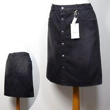 M&S INDIGO Knee Length A-LINE DENIM SKIRT ~ Size 10 ~ FADED BLACK