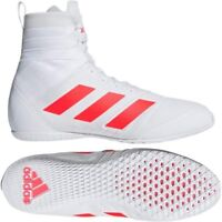 Adidas Speedex 18 Boxing Boots Adult Mens White Red Sports Training Shoes Foot