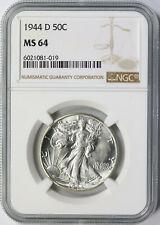 1944-D 50c Walking Liberty Half Dollar NGC MS64