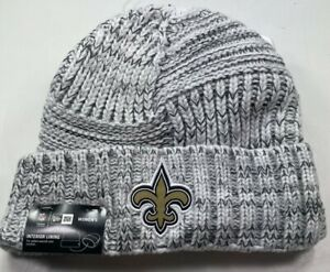Authentic New Orleans Saints Knit Hat /Insulated/ Lt.Grey / Womens/ NWT