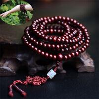 216 Beads New Sandalwood Buddhist Buddha Meditation Mala Bracelet Necklace 6mm