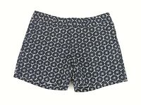 Tommy Hilfiger Women's Shorts Chino Navy Blue Floral Print Daisy Casual Size 2