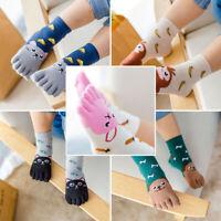 Toddler Socks Kids Boys Animal Five Fingers Sock Hosiery Toe Sock Children1 Pcs