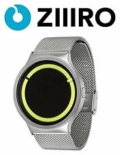 New ZIIIRO Eclipse Steel Unisex Wrist Watch ( Metallic Chrome / Lemon )