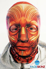 3D Efecto Cara Piel Lycra Tela Cara músculos Cara Máscara Halloween lsprints