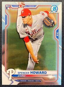 Spencer Howard 2021 Bowman Chrome RC Rookie Prospect #59 Base PHILLIES