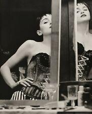 1990 Vintage MADONNA Singer By HERB RITTS Corset Fashion Mirror Photo Art 16x20
