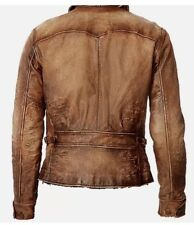 New Ralph Lauren Polo Distressed Brown Leather Jacket Coat RRL XXL Cowboy Rugged