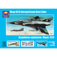 Dassault Mirage III French Jet Fighter Russian Aircraft Model Kits scale 1:72