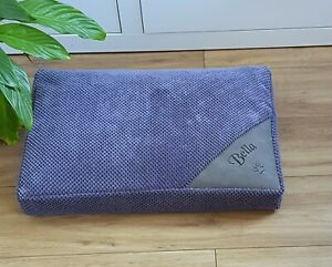4 Colour Personalised Dog Bed Waterproof Memory Foam Machine WashableTop or Bed