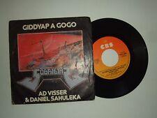 "Ad Visser & Daniel Sahuleka/Giddyap A Gogo - Disco Vinile 45 Giri 7"" Italia 1982"