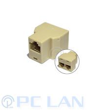 RJ-45 Female CAT 5 6 LAN Ethernet Splitter Connector Adapter