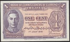 1941 | Straits Settlements & Malay States One Cent Bank Note | KM Coins