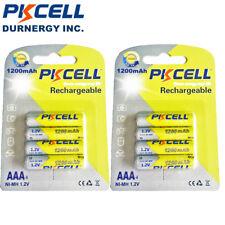 8 AAA NiMH Rechargeable Batteries 1200mAh 1.2V Battery for Solar Light PKCELL