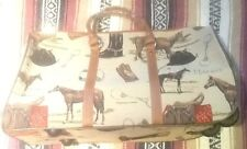 Equestrian Horses Tapestry Large Pull Along Roller Carry On Bag Luggage