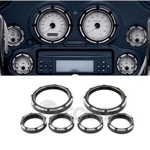 Speedometer Gauge Burst Bezel Kit For Harley Electra Street Tri Glide FLHT 96-13