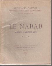 LIVRE - LE NABAB MOEURS PARISIENNES 1887 ALPHONSE DAUDET