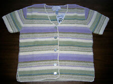 NORTHERN ISLES II Portraits Multicolor Sweater ~ Knitted by Hand ~ Small ~ NWT