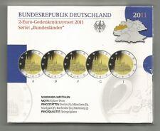 2-Euro-Gedenkmünzen Set 2011 , Kölner Dom - Spiegelglanz / PP - A D F G J - NEU
