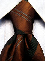 Hugo Boss Brown Striped Silk Tie Made in Italy A4490