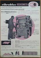 Materiali edili - pubblicità - Rosacometta - Vibroblock 6 - Milano - anni '50