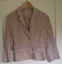 Oasis Dusky Pink Linen Jacket Blazer Coat Size 12 Day Evening Wedding Smart