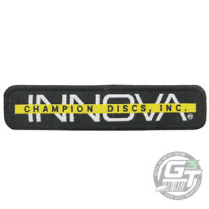 Innova BAR STAMP Disc Golf Iron-On Patch - BLACK / WHITE / YELLOW