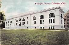 Columbus Ohio 1909 Postcard Carnegie Library