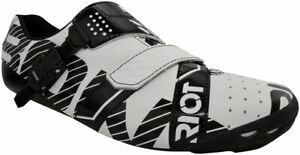 Bont Riot Buckle Road Cycling Shoes | White/Black | EU 46