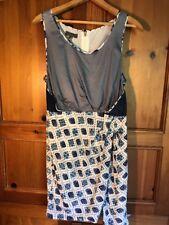 """Sachin and Babi Blue/Gray """"Hope"""" Dress Metal Studded Skirt Silk Sz 6 NWT"""